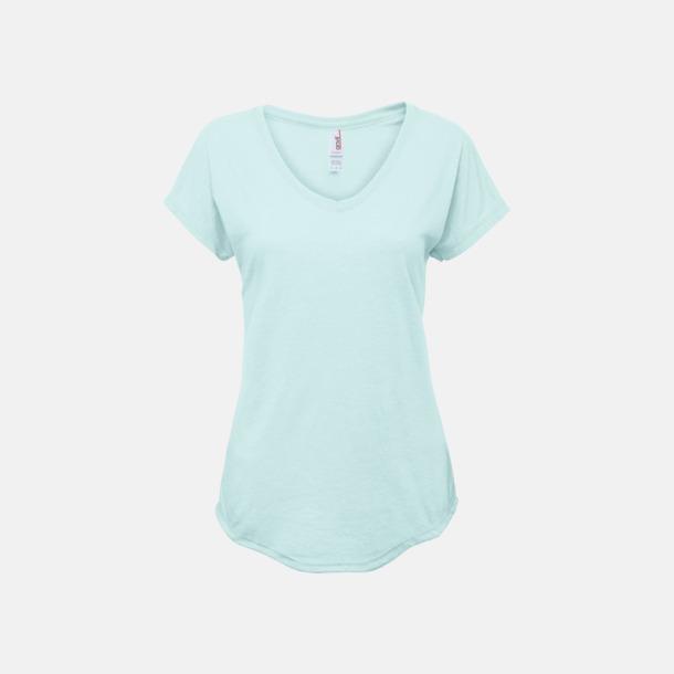 Teal Ice (dam) Spräckliga t-shirts med reklamtryck