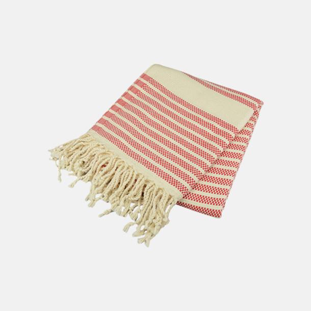 Classic Red/Ivory Traditionella, vävda handdukar med reklamlogo
