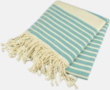 Traditionella, vävda handdukar med reklamlogo