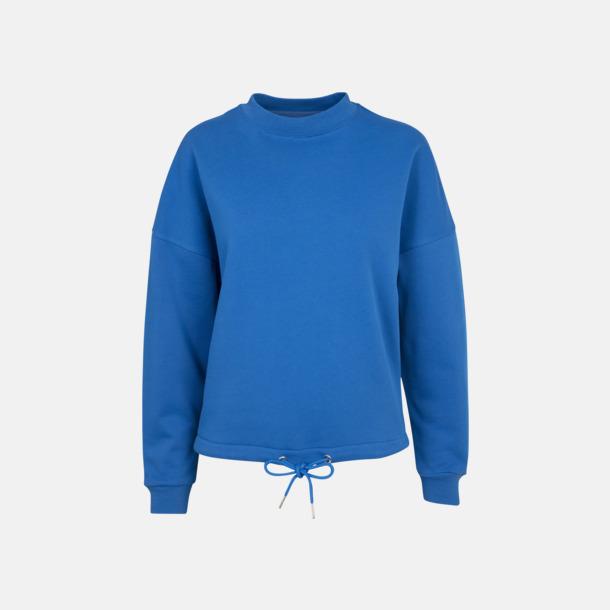 Cobalt Blue Oversize damtröjor med reklamtryck