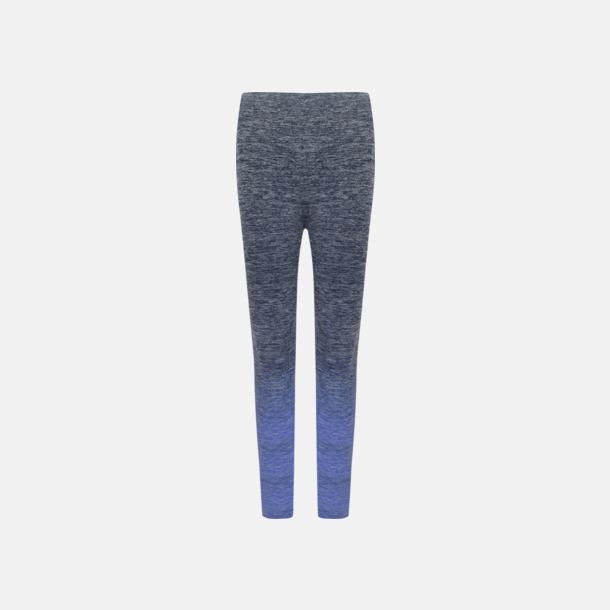 Navy - Blue Marl Sömlösa leggings med reklamtryck