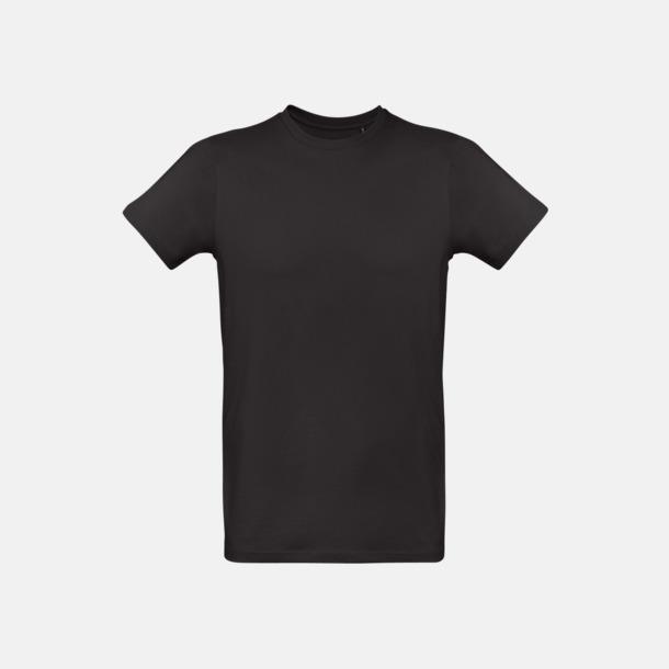 Svart (herr) Neutrala eko t-shirts i lite tjockare kvalitet med reklamtryck