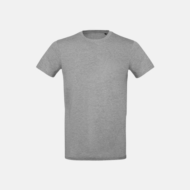Sport Grey heather (herr) Neutrala eko t-shirts i lite tjockare kvalitet med reklamtryck