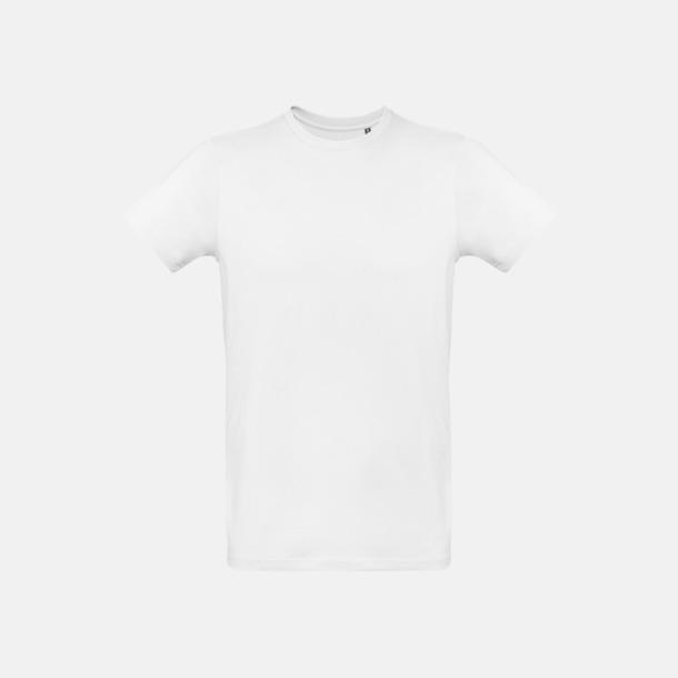 Vit (herr) Neutrala eko t-shirts i lite tjockare kvalitet med reklamtryck