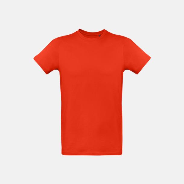 Fire Red (herr) Neutrala eko t-shirts i lite tjockare kvalitet med reklamtryck