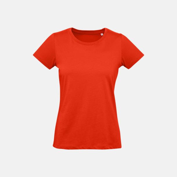 Fire Red (dam) Neutrala eko t-shirts i lite tjockare kvalitet med reklamtryck
