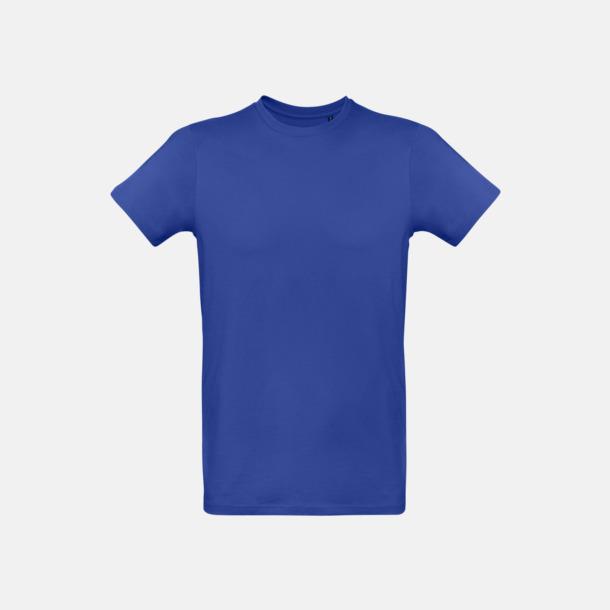 Cobalt Blue (herr) Neutrala eko t-shirts i lite tjockare kvalitet med reklamtryck