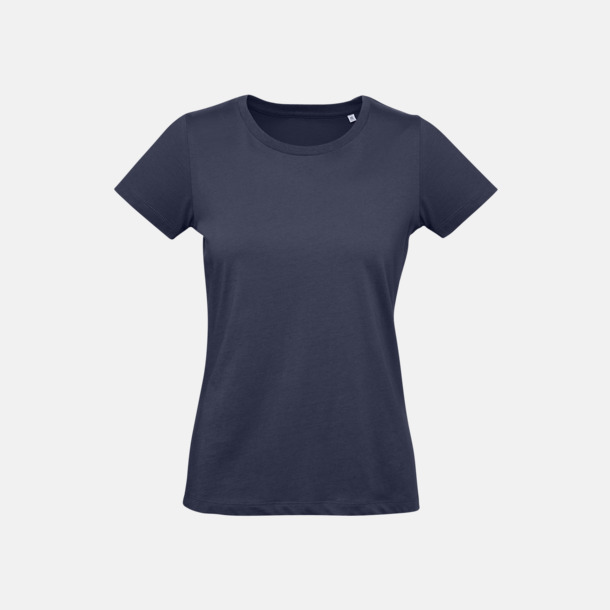 Urban Navy (dam) Neutrala eko t-shirts i lite tjockare kvalitet med reklamtryck