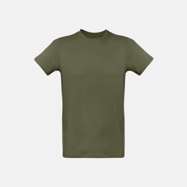 Urban Khaki (herr) Neutrala eko t-shirts i lite tjockare kvalitet med reklamtryck