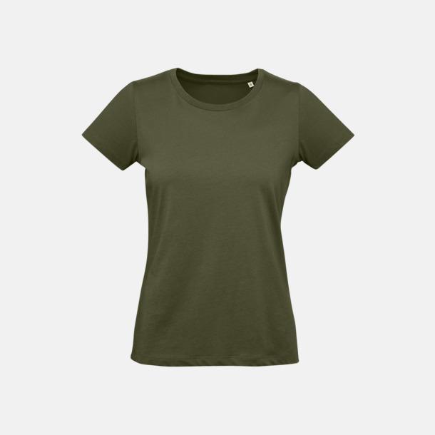 Urban Khaki (dam) Neutrala eko t-shirts i lite tjockare kvalitet med reklamtryck