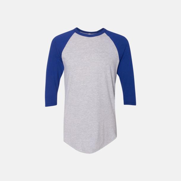Heather Grey/Lapis Trendiga unisex t-shirts med reklamtryck
