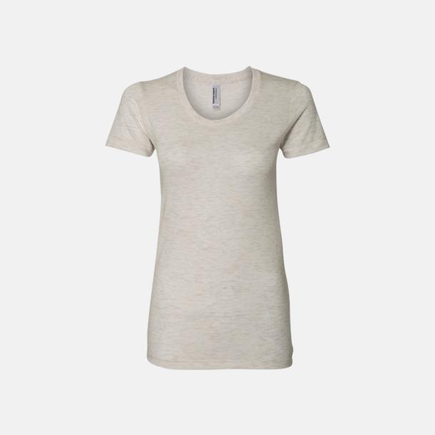 Tri-Oatmeal (dam) T-shirts i unisex- & dammodell med reklamtryck