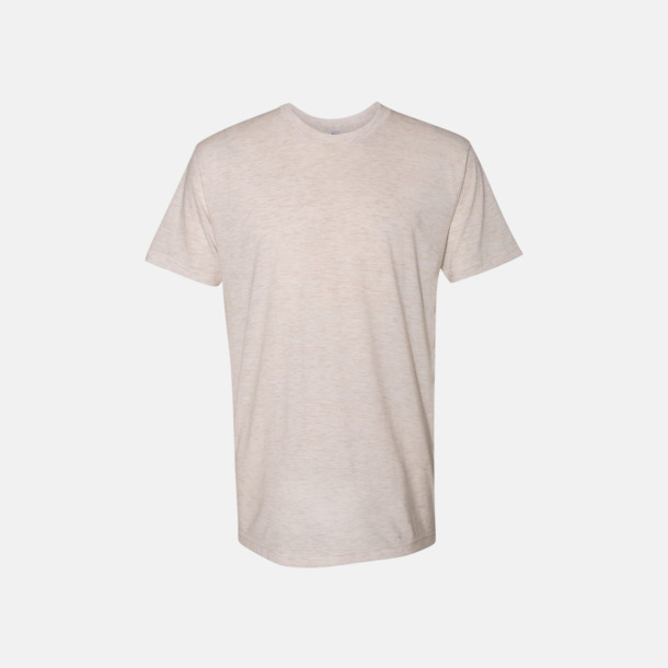Tri-Oatmeal (unisex) T-shirts i unisex- & dammodell med reklamtryck
