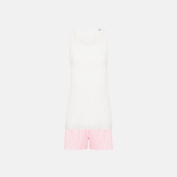 Vit/Rosa (short) 2 varianter av pyjamasset i påse med reklamtryck