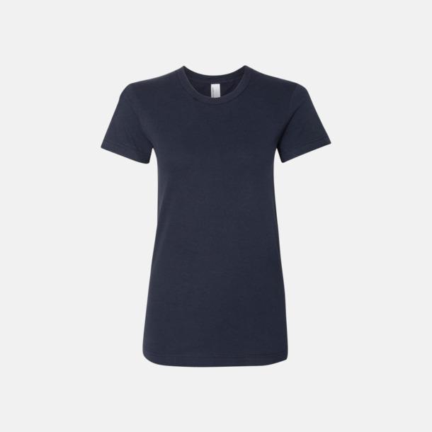 Marinblå (dam) Unisex & dam t-shirts med reklamtryck
