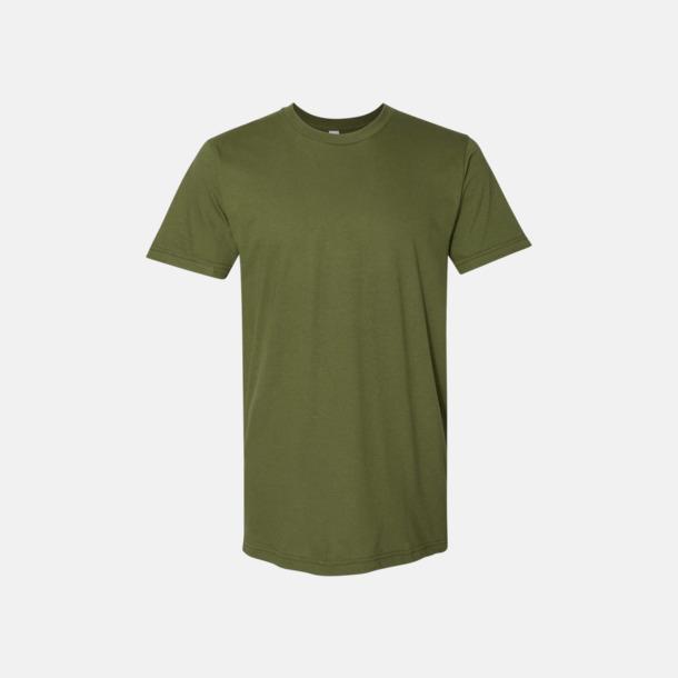 Olive (unisex) Unisex & dam t-shirts med reklamtryck