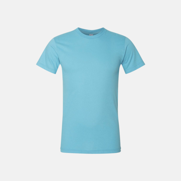 Turkos (unisex) Unisex & dam t-shirts med reklamtryck