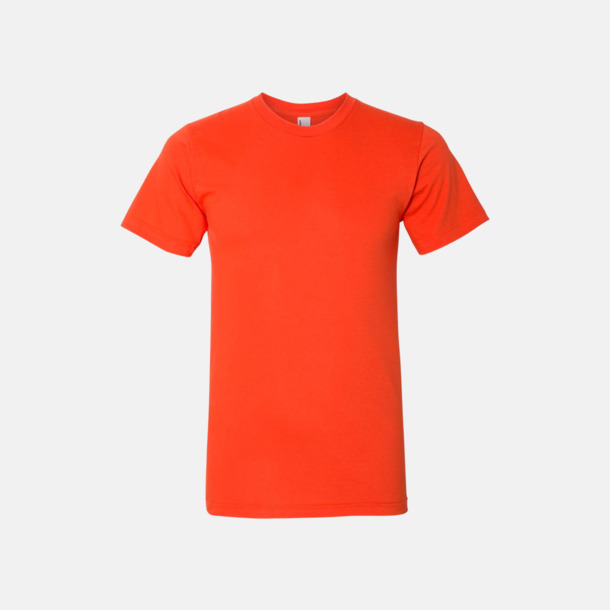 Orange (unisex) Unisex & dam t-shirts med reklamtryck