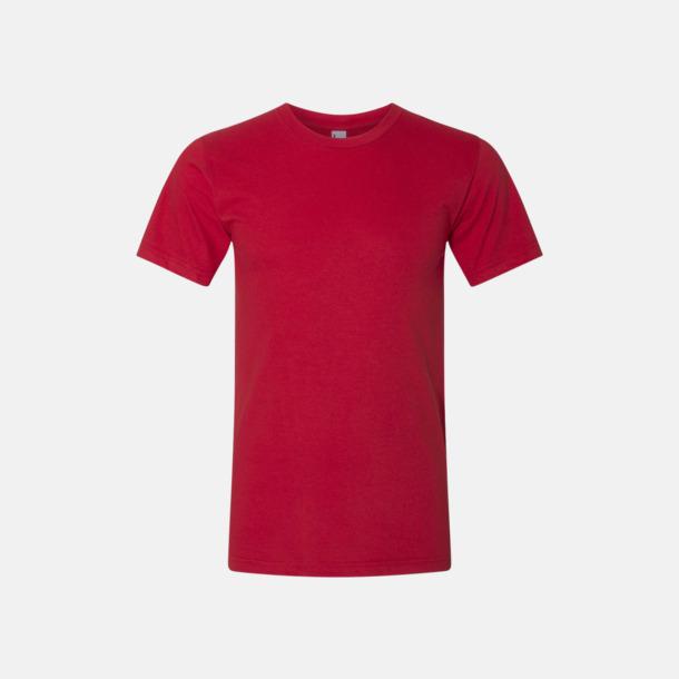 Röd (unisex) Unisex & dam t-shirts med reklamtryck