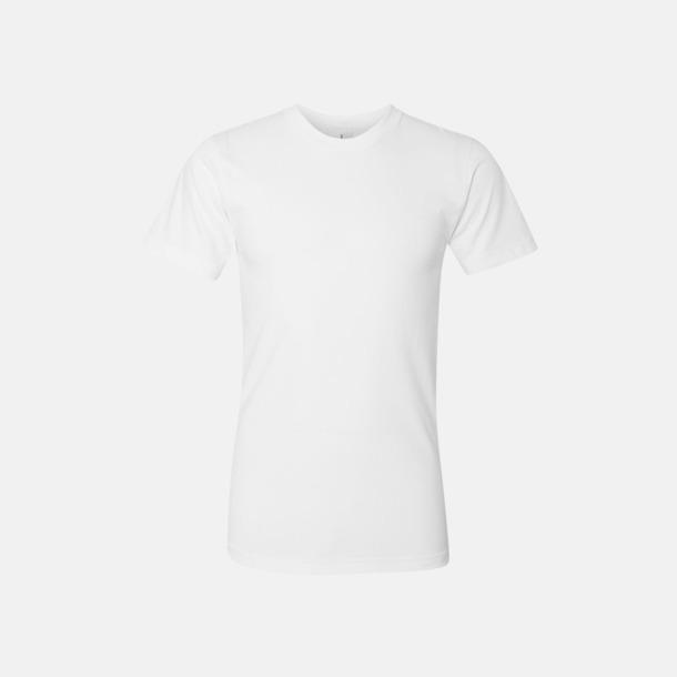 Vit (unisex) Unisex & dam t-shirts med reklamtryck