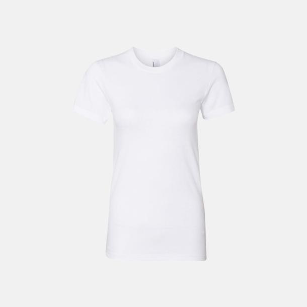 Vit (dam) Unisex & dam t-shirts med reklamtryck
