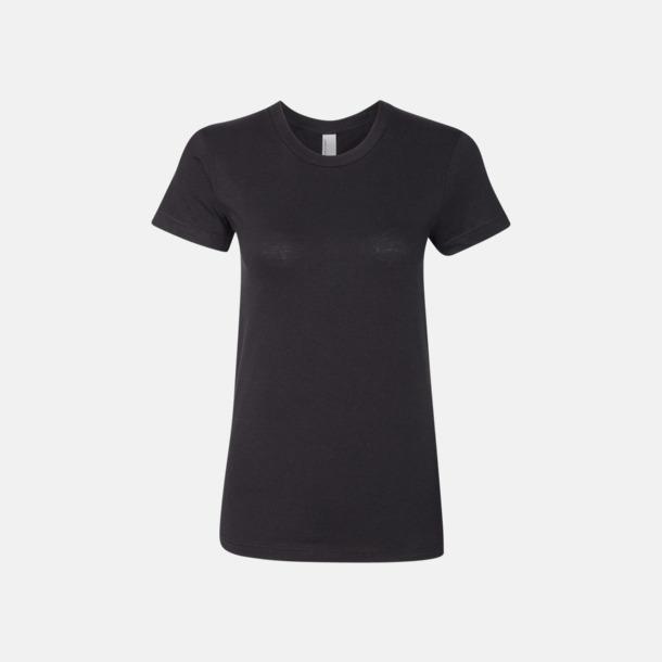 Svart (dam) Unisex & dam t-shirts med reklamtryck