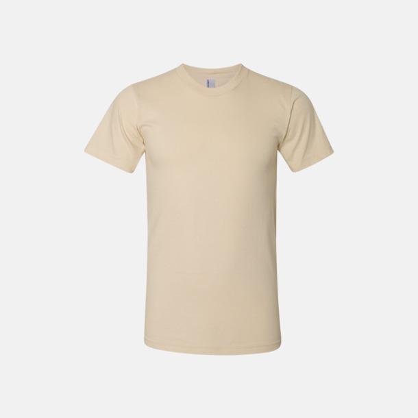 Crème (unisex) Unisex & dam t-shirts med reklamtryck