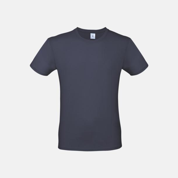 Marinblå (herr) Fina kvalitets bas t-shirts med reklamtryck
