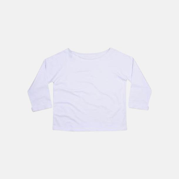 Vit Eko 80-tals tröjor med reklamtryck