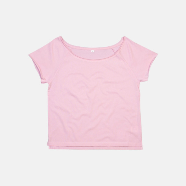Soft Pink Klippta eko t-shirts med reklamtryck