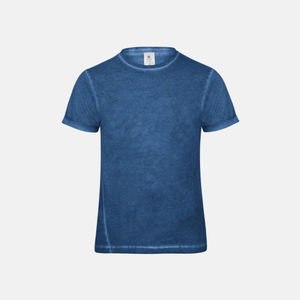 Blue Clash (herr) Denim inspirerade t-shirts med reklamtryck