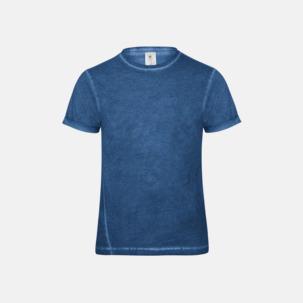 Denim inspirerade t-shirts med reklamtryck