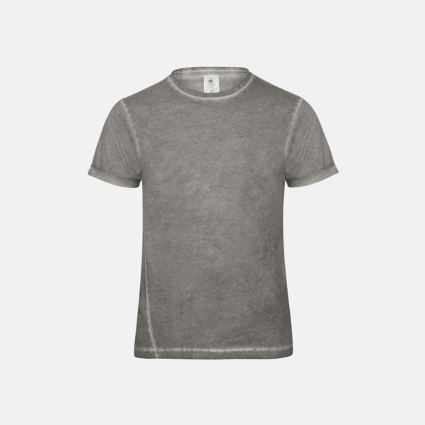 Grey Clash (herr) Denim inspirerade t-shirts med reklamtryck