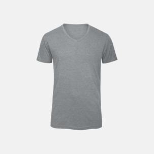 Triblend t-shirts med v-ringning - med reklamtryck