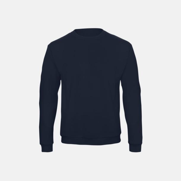 Marinblå Unisex sweatshirts med reklamtryck