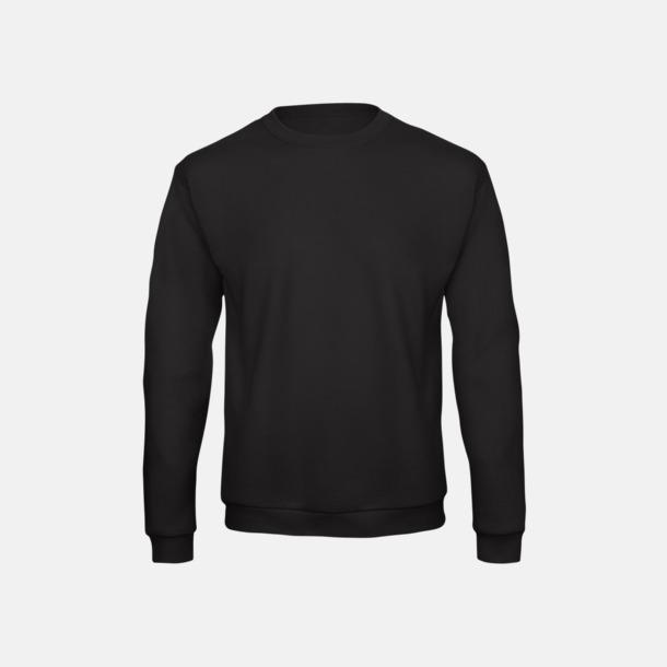 Svart Unisex sweatshirts med reklamtryck