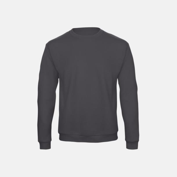 Anthracite Unisex sweatshirts med reklamtryck