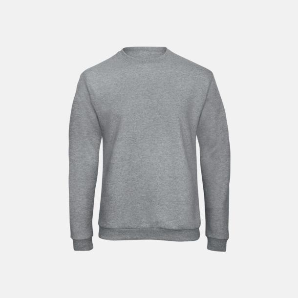Heather Grey Unisex sweatshirts med reklamtryck