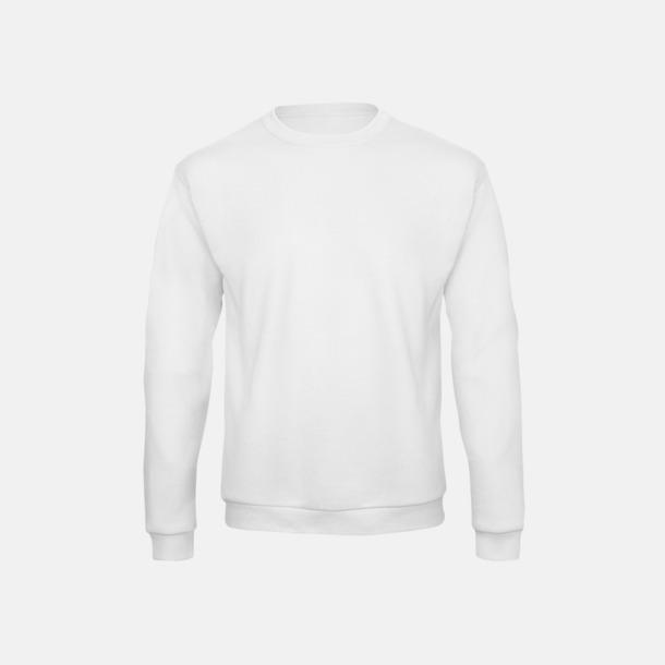 Vit Unisex sweatshirts med reklamtryck