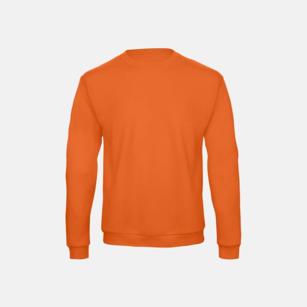 Orange Unisex sweatshirts med reklamtryck