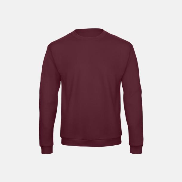Burgundy Unisex sweatshirts med reklamtryck