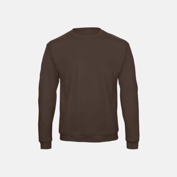 Brun Unisex sweatshirts med reklamtryck