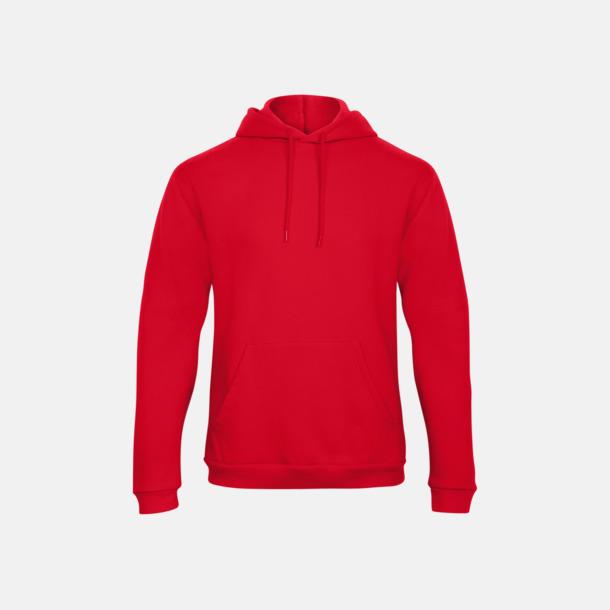 Röd Unisex luvtröjor med reklamtryck