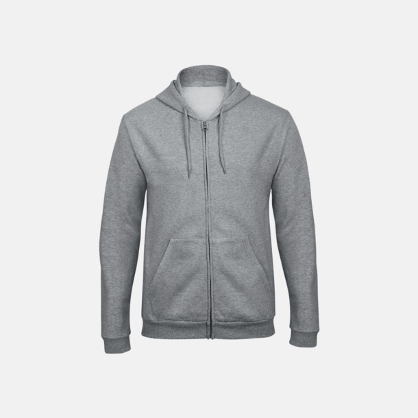Heather Grey Unisex zoodies med reklamtryck