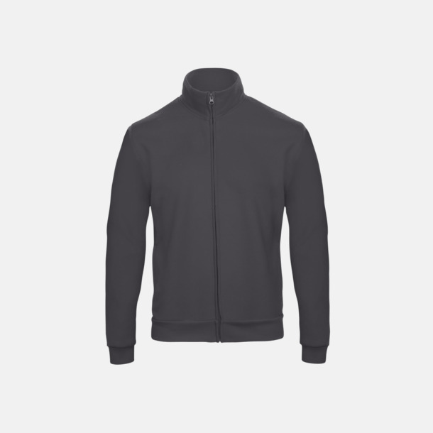 Anthracite Unisex zip sweatshirts med reklamtryck