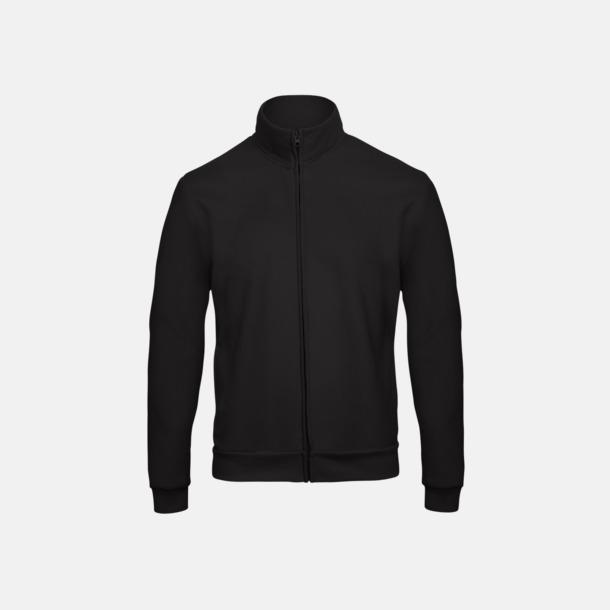 Svart Unisex zip sweatshirts med reklamtryck