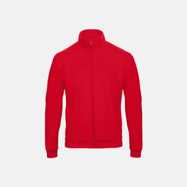 Röd Unisex zip sweatshirts med reklamtryck