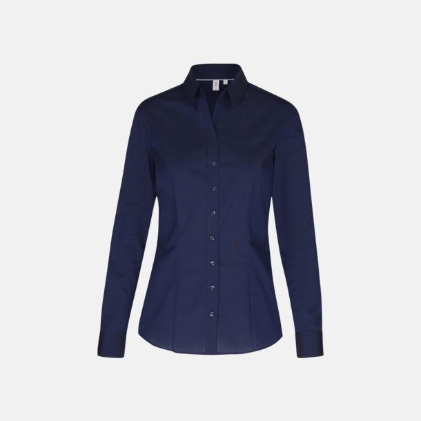 Mörkblå (dam) Långärmade skjortor & blusar med relamlogo
