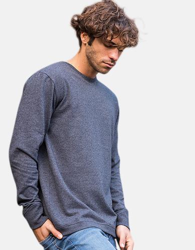 Sweatshirts i återvunnen bomull med reklamtryck