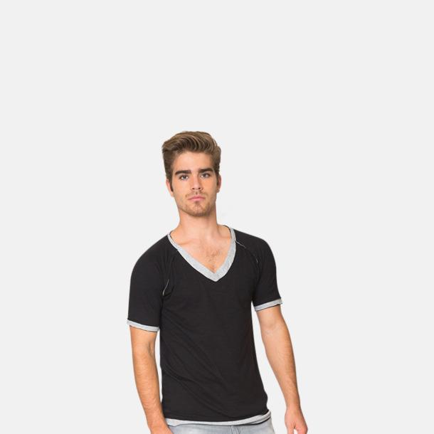 V-ringade herr t-shirts med reklamtryck